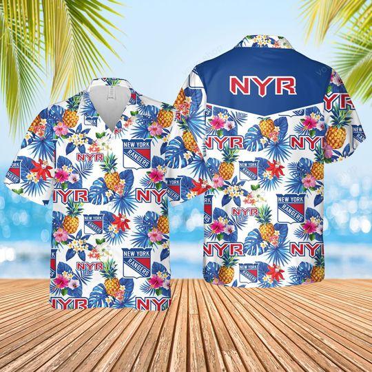 5 New York Rangers Hawaiian Shirt And Short 1 1