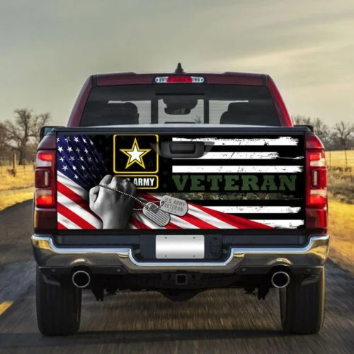 5 United States Army Veteran Truck Tailgate Decal Sticker Wrap 1 1