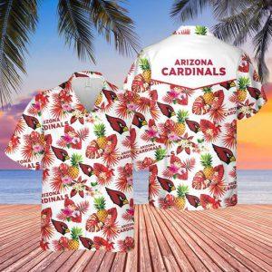 6 Arizona Cardinals Hawaiian Shirt And Short 1