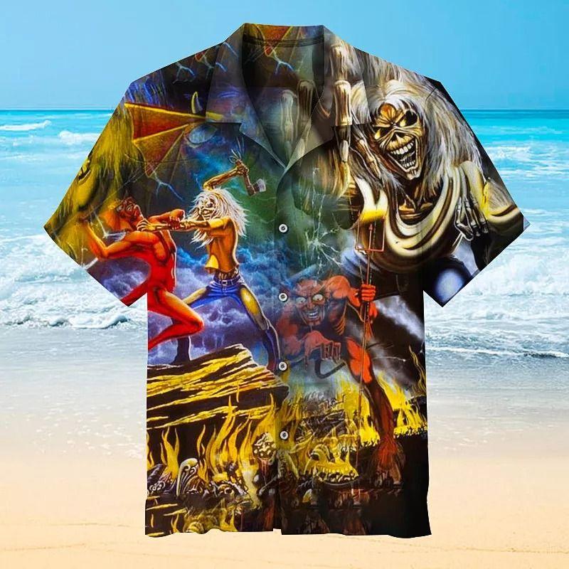 6 Iron Maiden Pattern Hawaiian Shirt 1 1