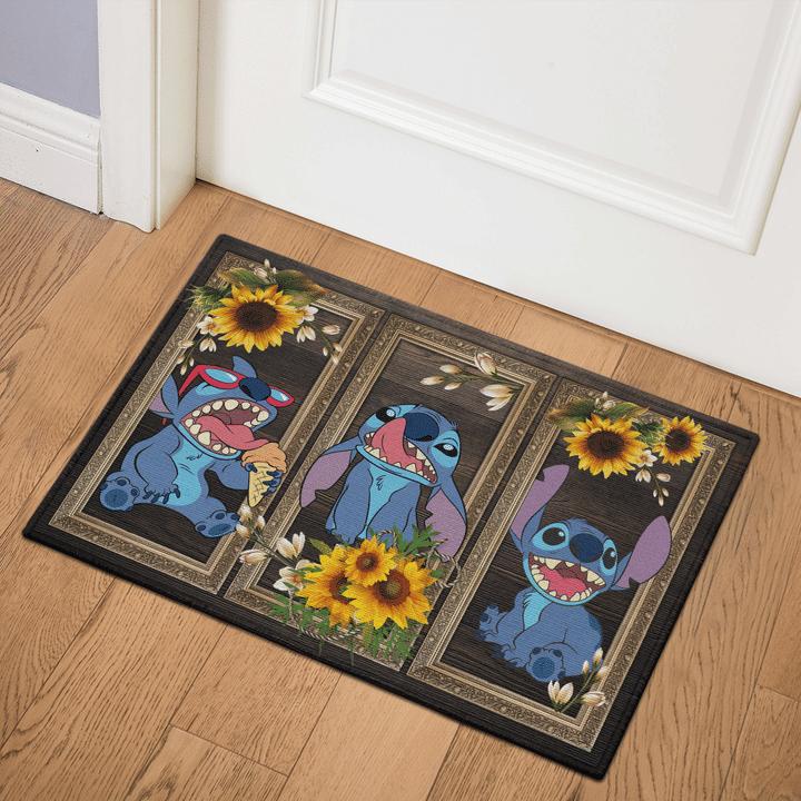 6 Stitch Sunflower Doormat 1 1