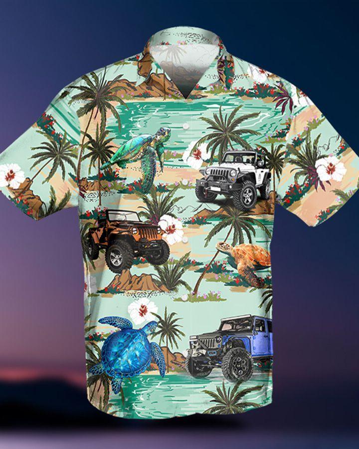 7 Jeep Tropical Turtle Hawaiian Shirt And Short 1 1