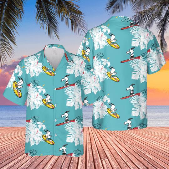 7 Snoopy Surfing Hawaiian Shirt 1 1