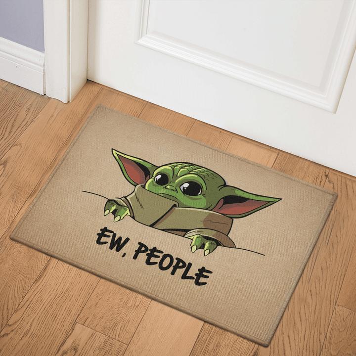 8 Baby Yoda Ew People Doormat 1 1