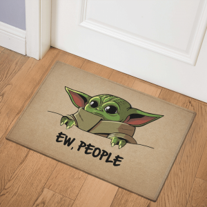 8 Baby Yoda Ew People Doormat 1