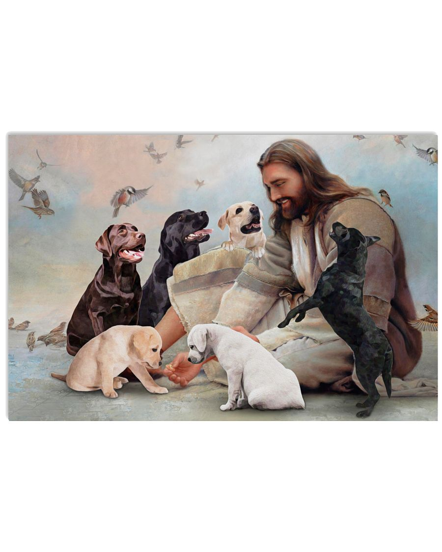 8 God surrounded by Labrador angels Gift for you Horizontal Poster 1 1