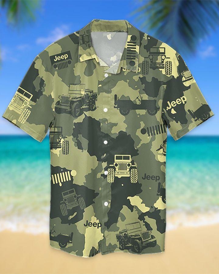 8 Jeep Willy Camo Hawaiian Shirt And Short 1 1