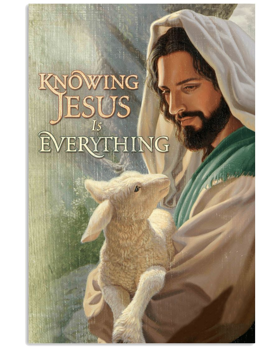9 Goat Knowing Jesus is everything Gift for you Vertical Poster 1 2
