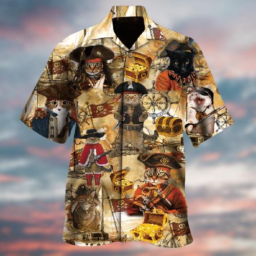 A treasure hunting cat hawaiian shirt 6