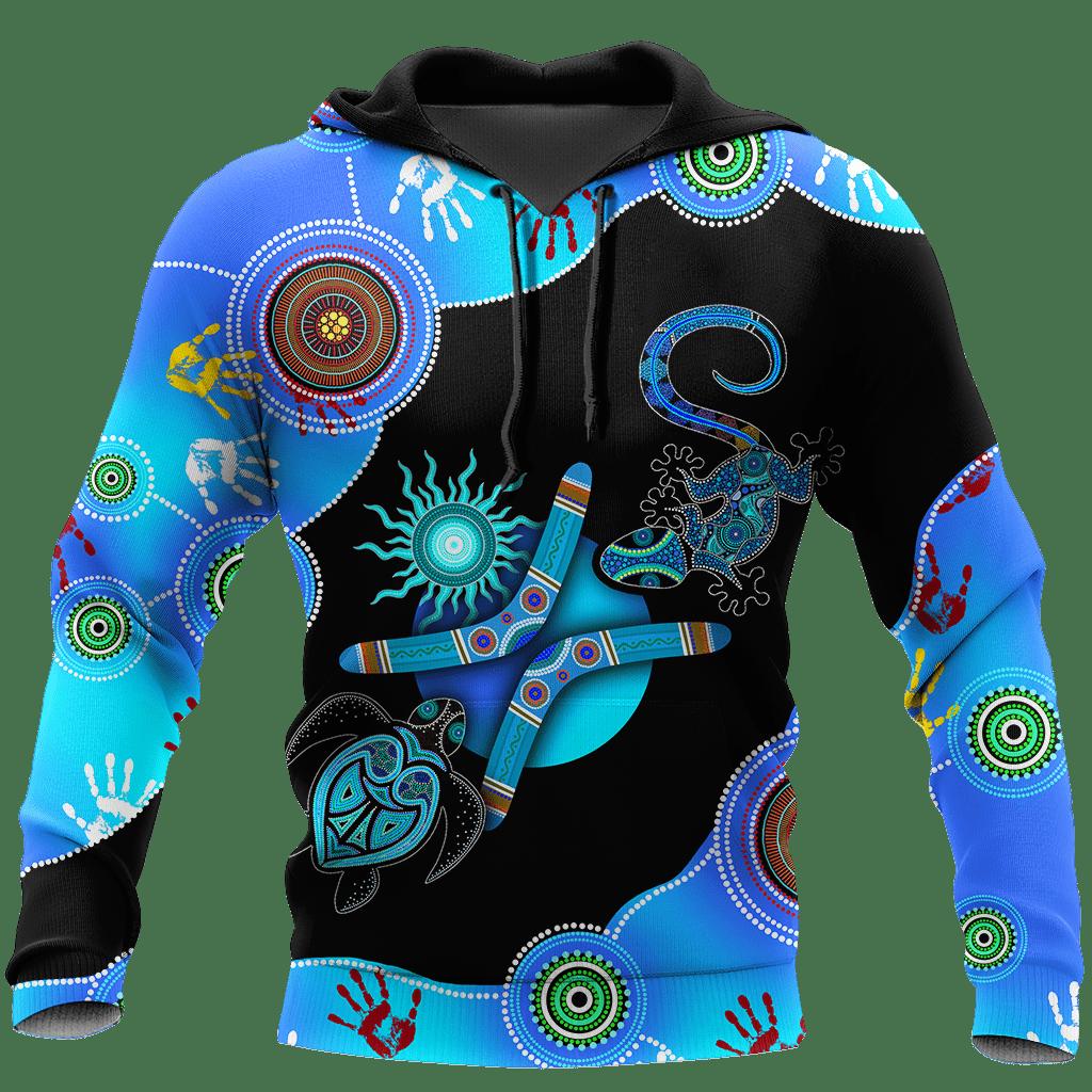 Aboriginal Naidoc Week 2021 Blue Turtle Lizard 3d Hoodie