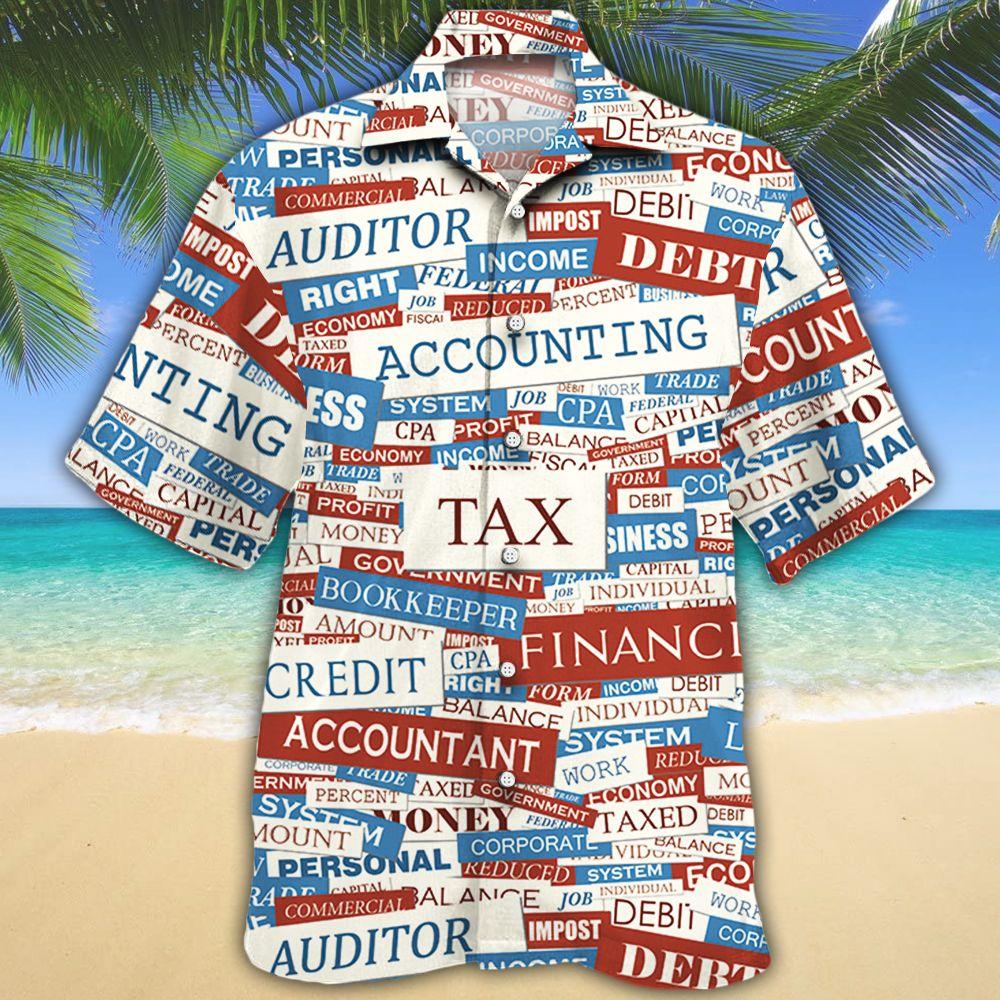 Accounting Text Gift Hawaiian Shirt 1