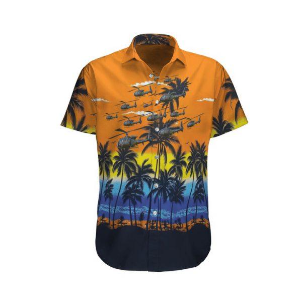 Aerospatiale Gazelle French Army Hawaiian Shirt And Shorts
