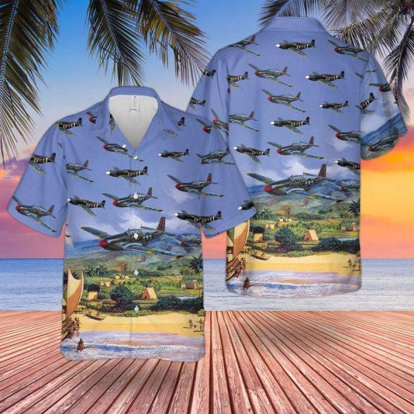 Af North American P51 Mustang Iii Hawaiian Shirt
