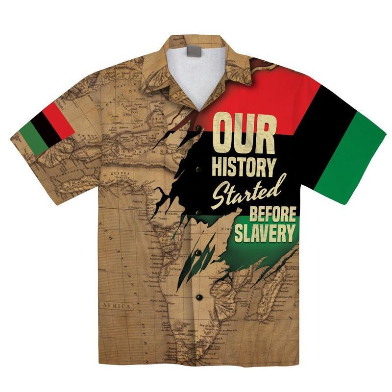 African map hawaiian shirt and shorts 1