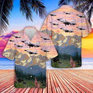 Air Force Convair F 106A Delta Dart Montana Hawaiian Shirt