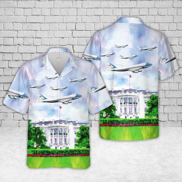 Air Force One Hawaiian Shirt