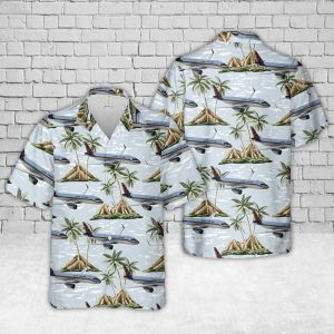 Airlines A320 Neo Flower Livery Trocpical Hawaiian Shirt