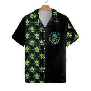 Alien Dont Panic Its Organic Hawaiian Shirt3