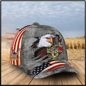 America Flag Eagle U.S Navy 4Cap1