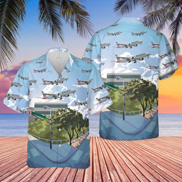 American Airlines Boeing 777 300ER Hawaiian Shirt