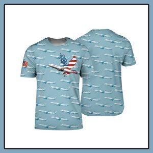 American Airlines Boeing 787 9 Dreamliner 3D shirt1 1