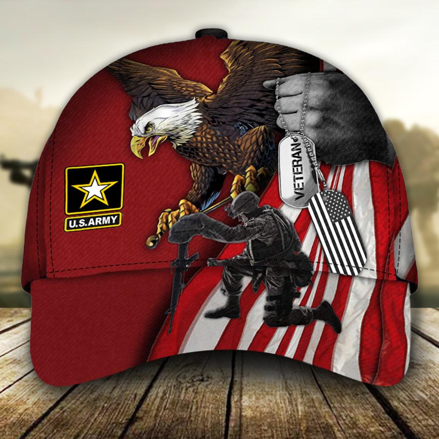 American Flag Eagle U S ARMY Veteran Cap