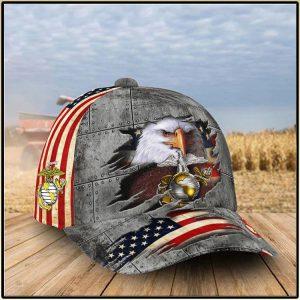 American Flag Eagle U.S Air Force Patriotic Honoring 0Cap
