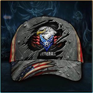 American Flag Eagle U.S Air Force Veteran Patriotic 1Cap