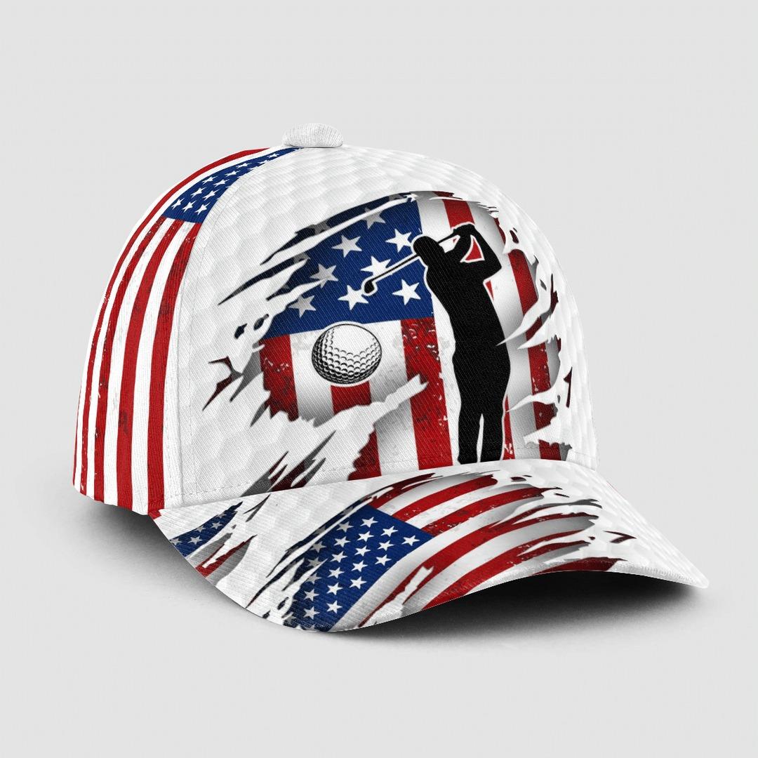 American Flag Golfer Cap