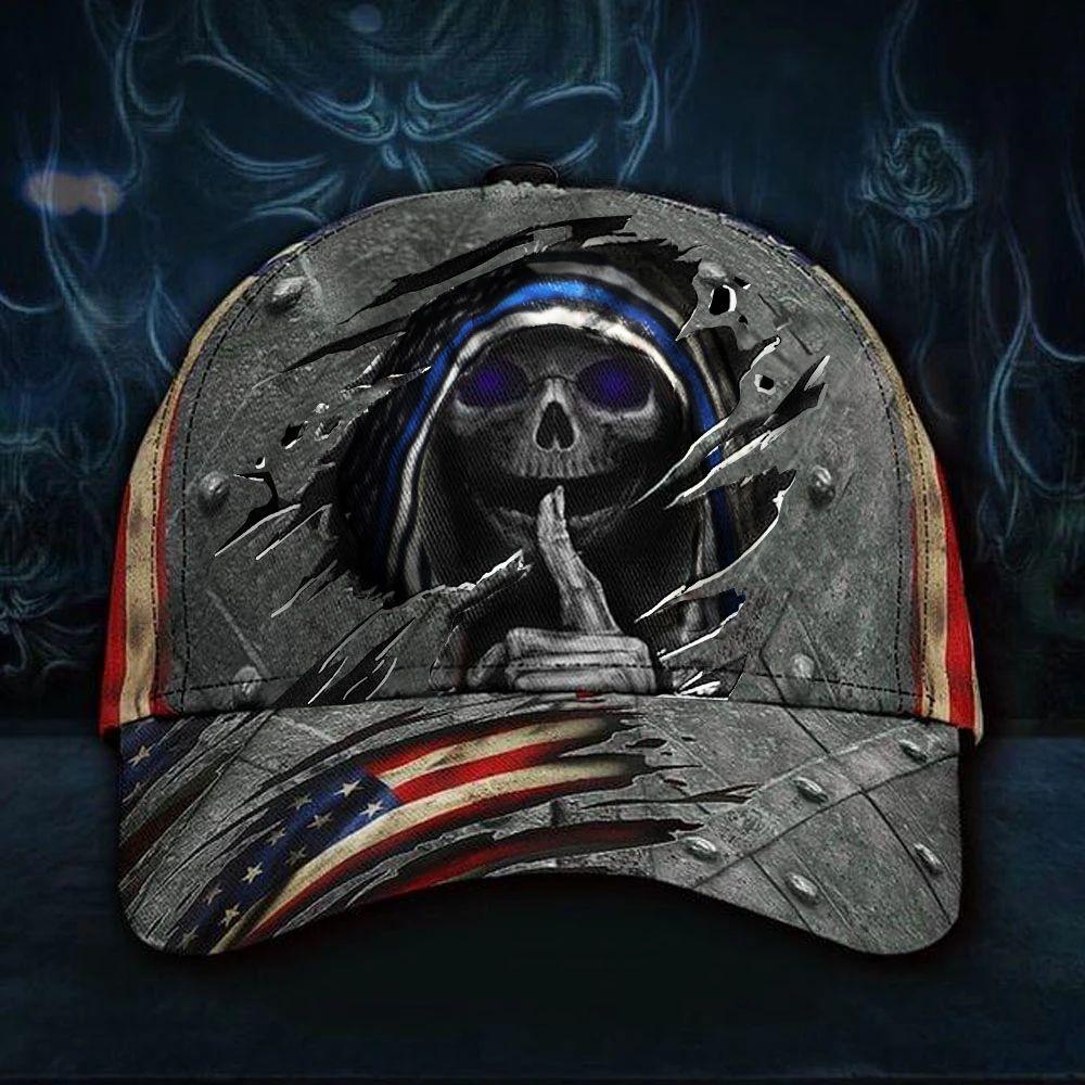 American Flag Skull Cap