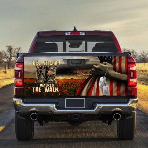 American flag US veteran I walked the walk Truck Tailgate Decal