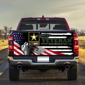 American flag army veteran Truck Tailgate Decal