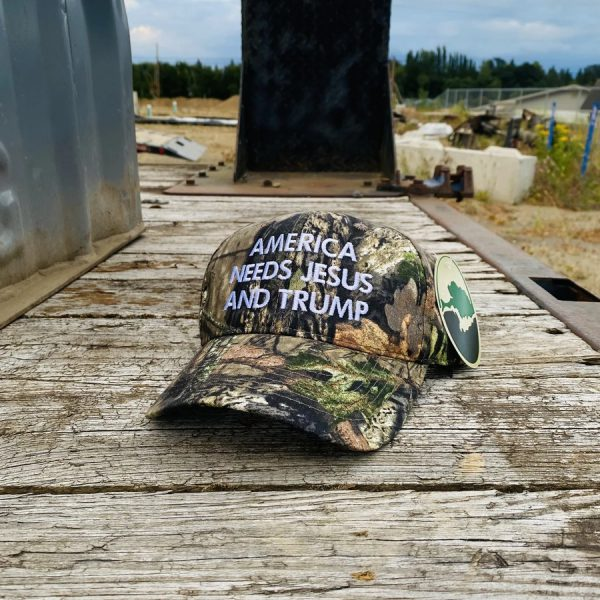 American needs Jesus and Trump cap hat