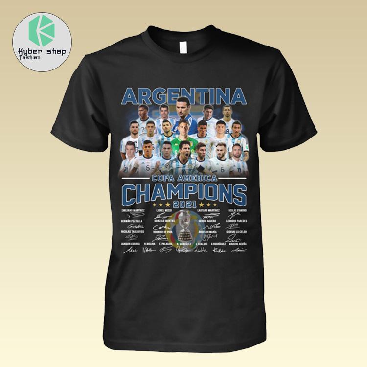 Argentia Copa America Champion 2021 signatures shirt hoodie 2