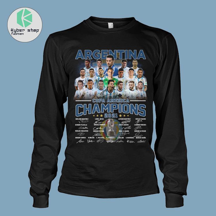 Argentia Copa America Champion 2021 signatures shirt hoodie 3