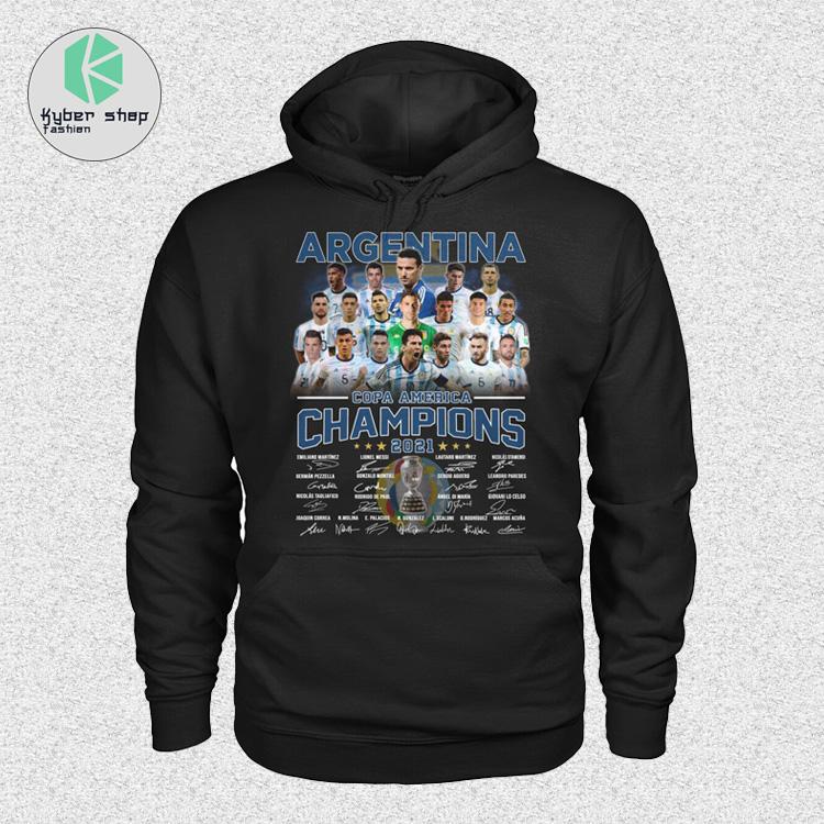 Argentia Copa America Champion 2021 signatures shirt hoodie 4