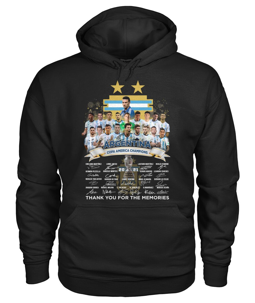 Argentina copa america champions 2021 thank you for the memories shirt 14