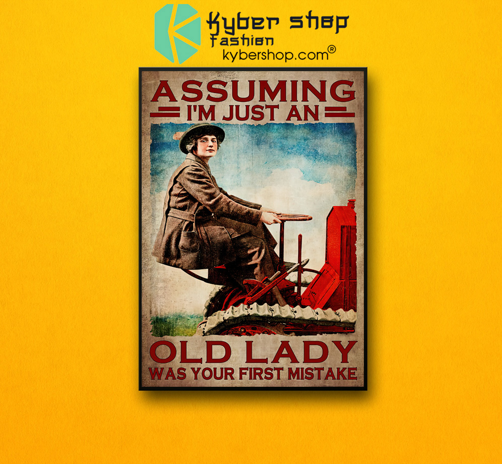 Assuming Im just an old lady was your first mistake poster 2