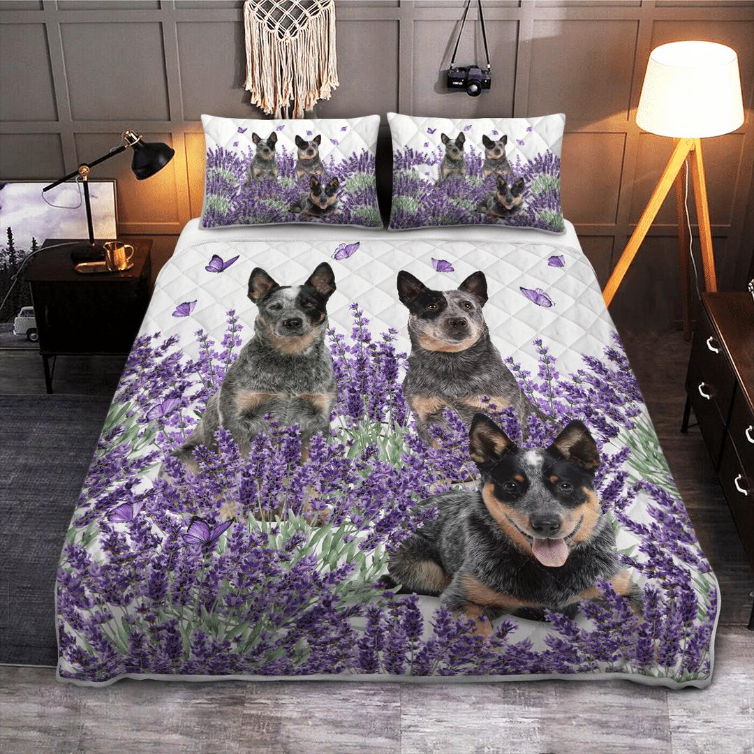 Australian Cattle Lavender Quilt 1