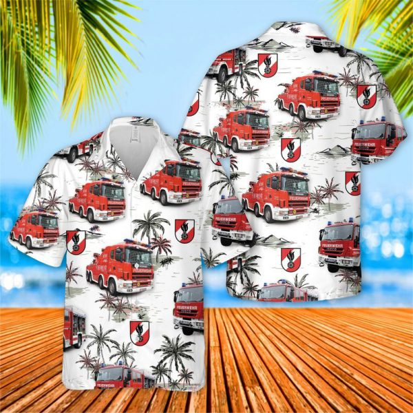Austrian Firefighter Truck Hawaiian Shirt