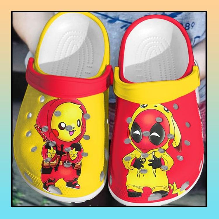 Baby Deadpool and Pikachu crocs clog crocband1