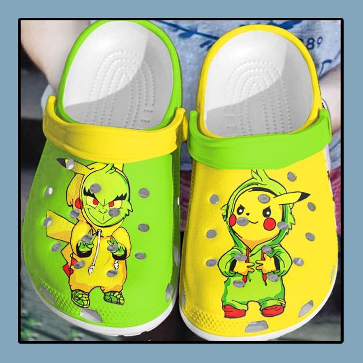 Baby Grinch and Pikachu crocs clog crocband1