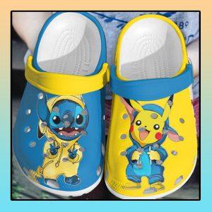 Baby Stitch and Pikachu crocs clog crocband1