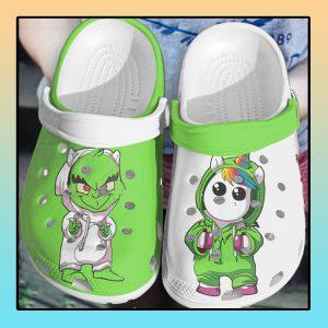 Baby Stitch and unicorn crocs clog crocband1