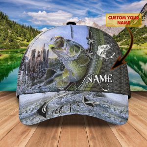 Bass Fishing Custom Name Cap