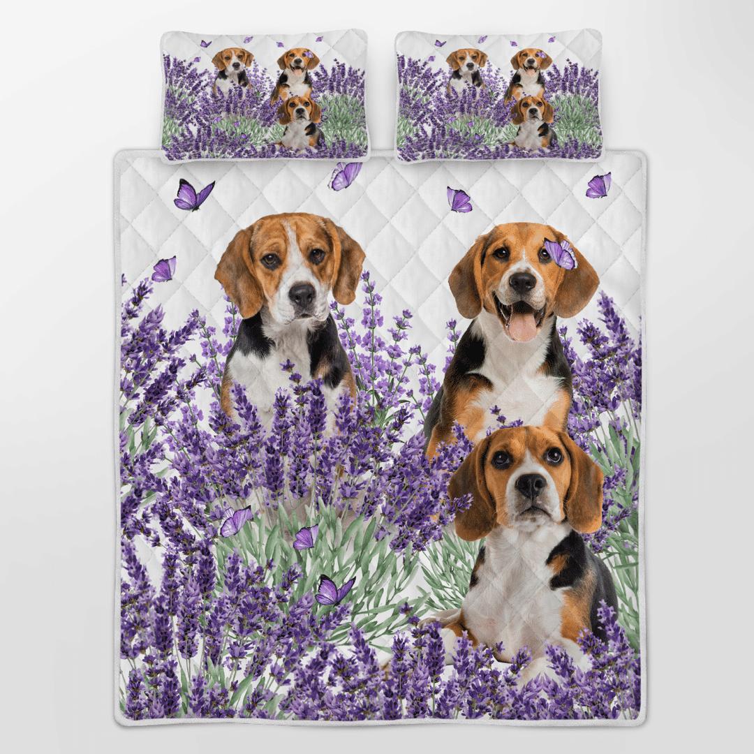Beagle Lavender Quilt