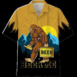 Beer Me Bigfoot Hawaiian Shirt And Short