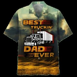 Best Truckin Dad Ever Hawaiian Shirt And Short