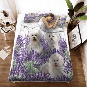Bichon Frise Lavender Quilt2