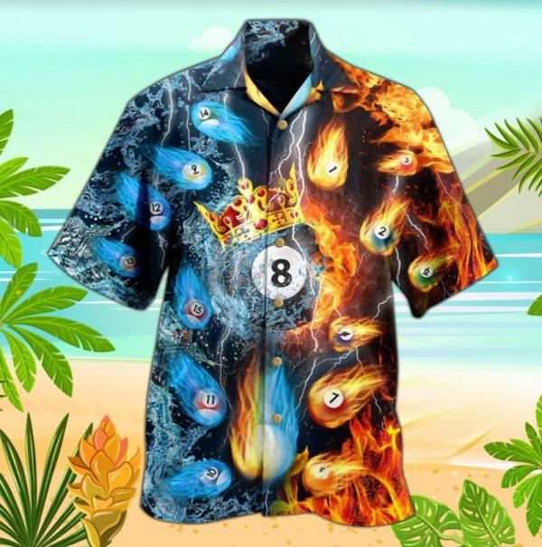 Billiard Fire and Water hawaiian shirt
